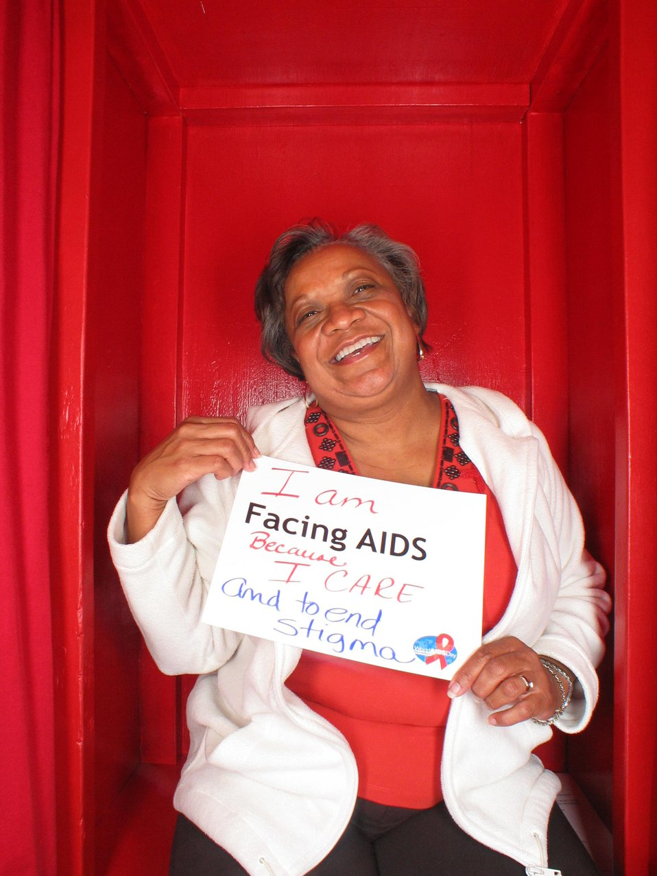 I am Facing AIDS because I care and to end stigma