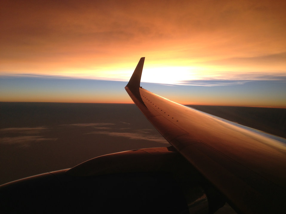 Secretary Kerry's View From the Airplane As He Flies Over the Red Sea