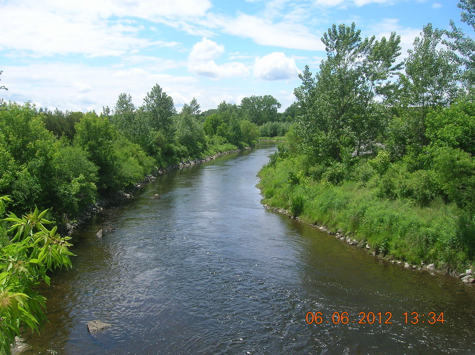 June 2012, 'AFTER' view of river cleanup from Lyman Street
