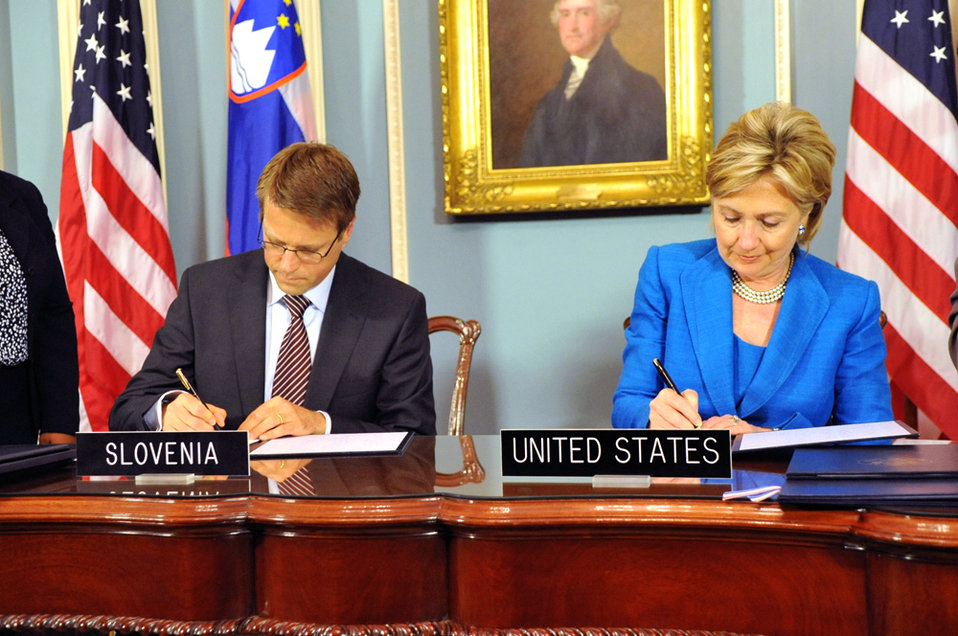 U.S.-Slovenia Signing Ceremony