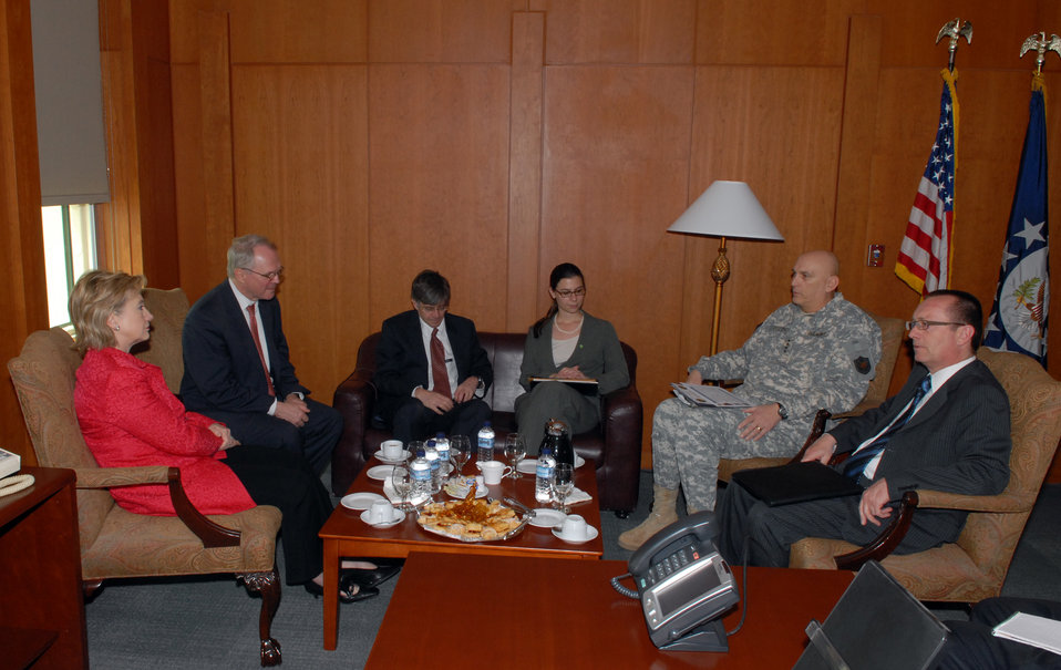 Secretary Clinton Meets With Leaders in Iraq