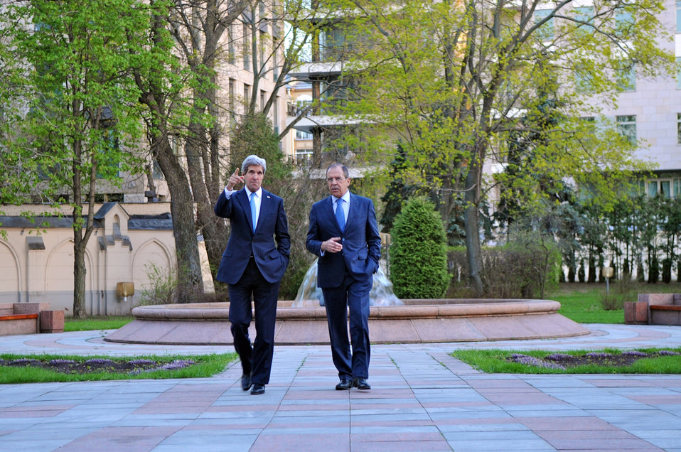 Secretary Kerry and Russian Foreign Minister Lavrov Walk and Talk