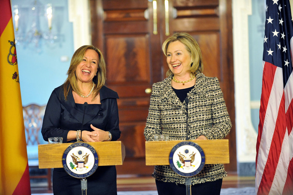 Secretary Clinton and Spanish Foreign Minister Jimenez Deliver Remarks
