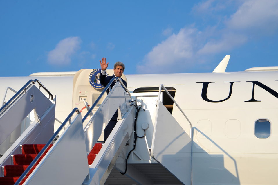 Secretary Kerry Departs for Amman, Jordan