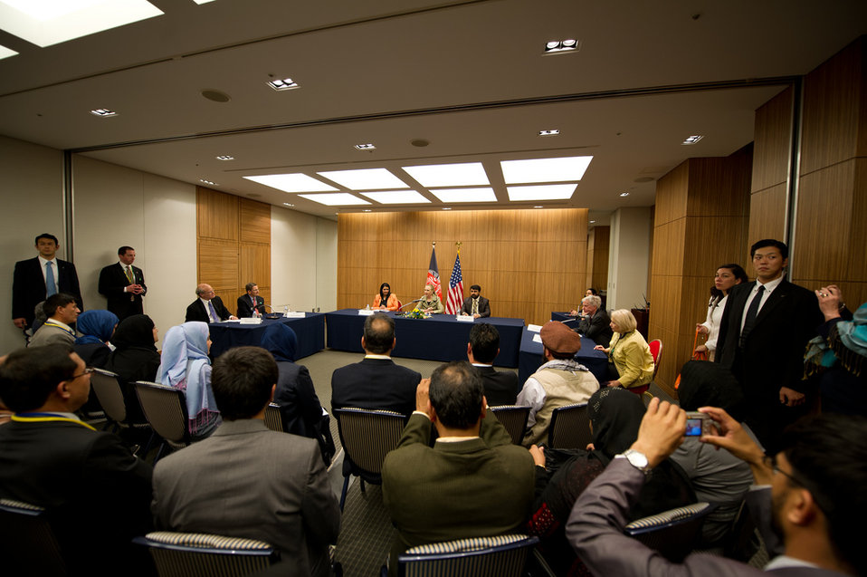 Secretary Clinton Paricipates in the Afghan Civil Society Event