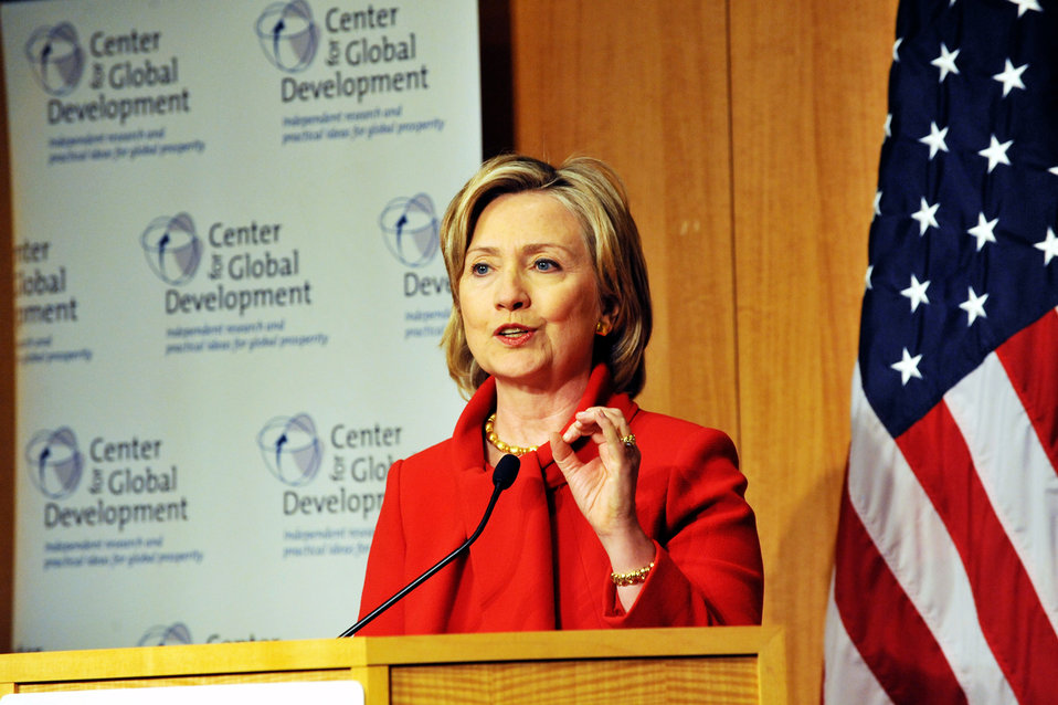 Secretary Clinton: Development in the 21st Century
