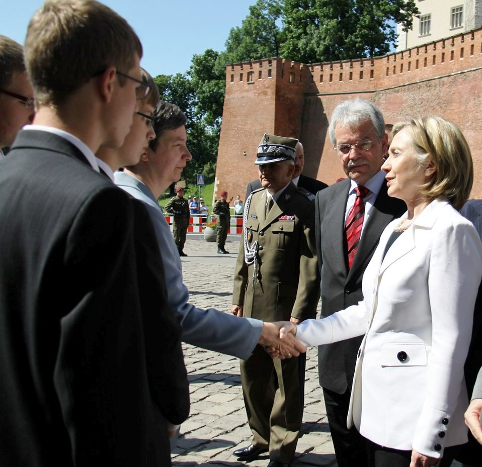 Secretary Clinton Meets With the Widow and Sons of Polish Undersecretary of State Andrezj Kremer