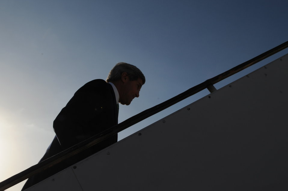 Secretary Kerry Departs After Day Trip to Israel