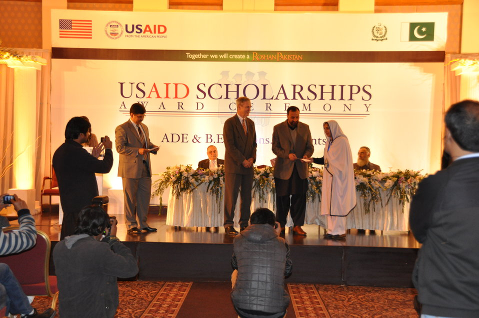 Scholarship recipient while receiving her scholarship