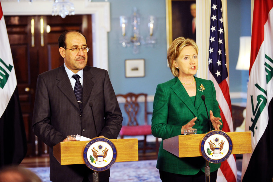 Secretary Clinton Holds Bilarteral Meeting with Iraqi Prime Minister
