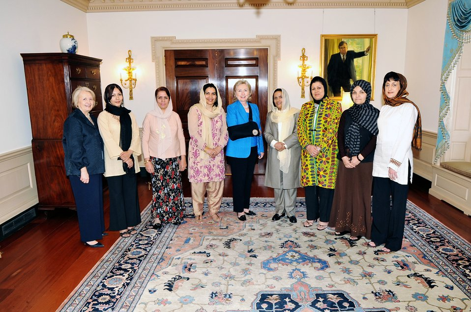 Secretary Clinton Meets With Senior Executive Afghan Women