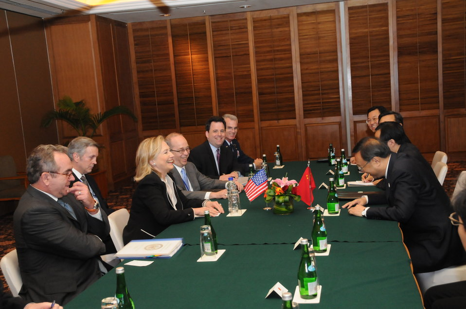 Secretary Clinton Holds a Bilateral Meeting With Chinese Foreign Minister Yang Jiechi