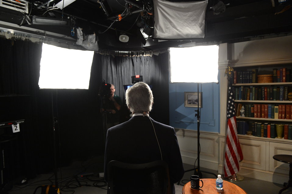 Secretary Kerry Prepares for his Google  Hangout