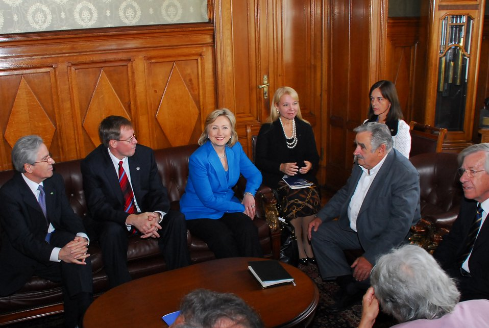 Secretary Clinton Meets with Uruguayan President-elect