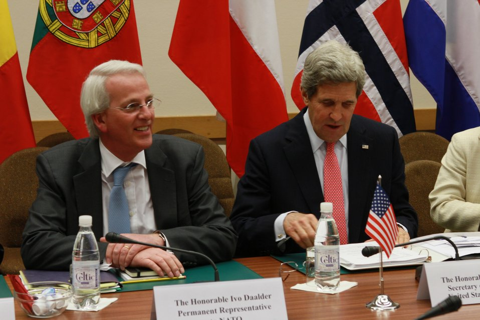 Secretary Kerry and Ambassador Daalder Prepare For Bilateral Meeting