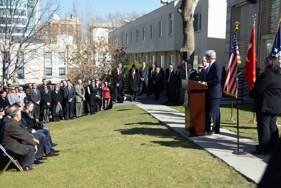 Secretary Kerry Honors Embassy Guard Akarsu