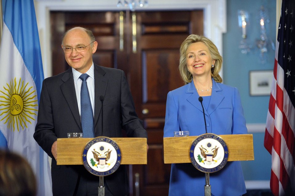 Secretary Clinton Holds a Joint Press Availability With Argentine Foreign Minister Timerman