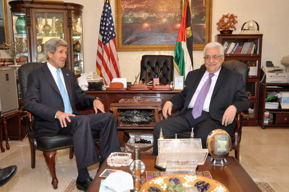 Secretary Kerry Meets With Palestnian Authority President Abbas