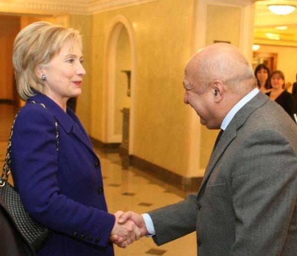 Secretary Clinton Greets Anatoliy Iksanov Bolshoi