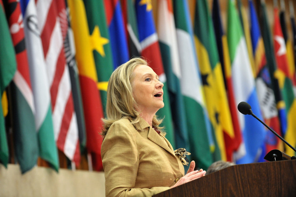 Secretary Clinton Delivers Remarks at the 2012 African Growth and Opportunity Act Forum