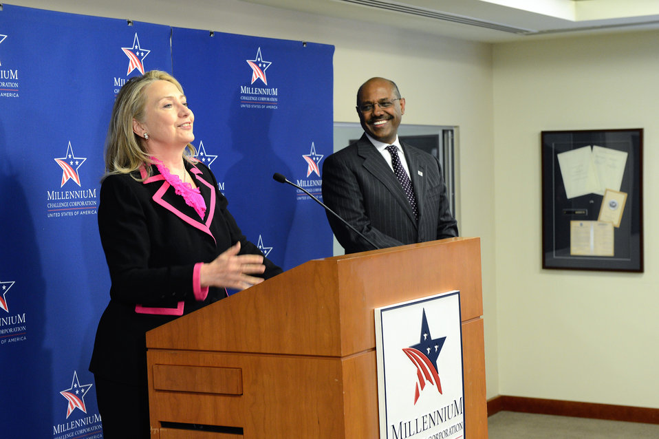 Secretary Clinton Delivers Remarks to the Millennium Challenge Corporation