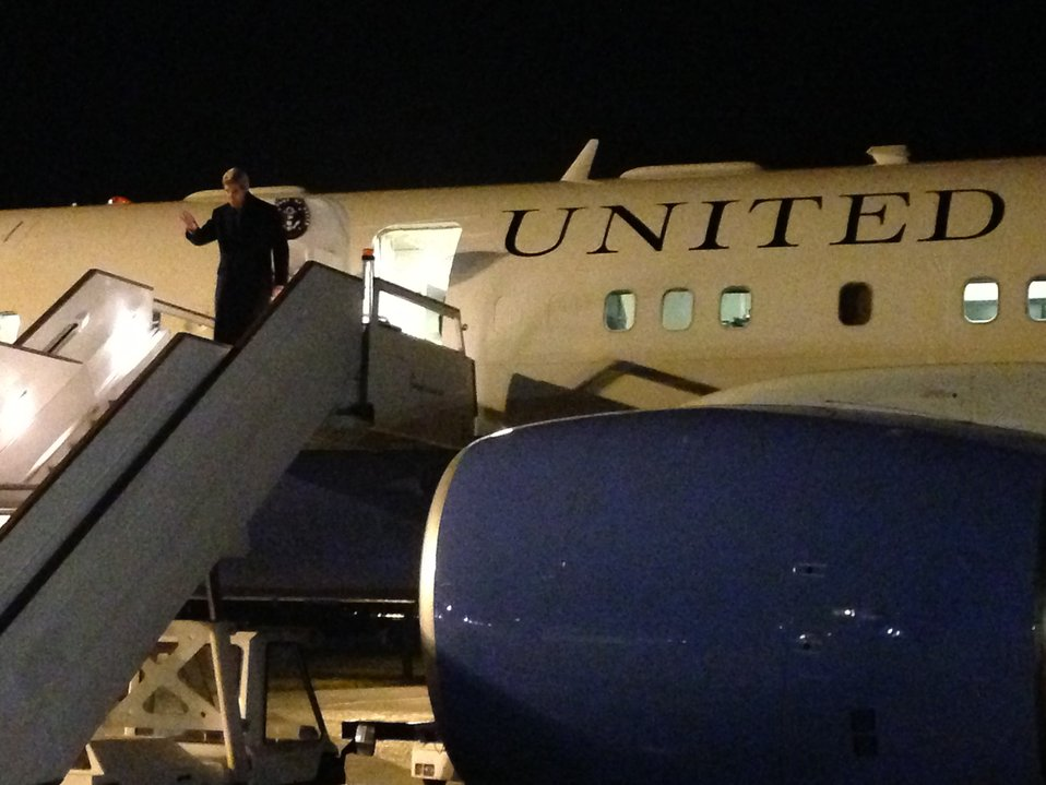 Secretary Kerry Arrives in London, United Kingdom