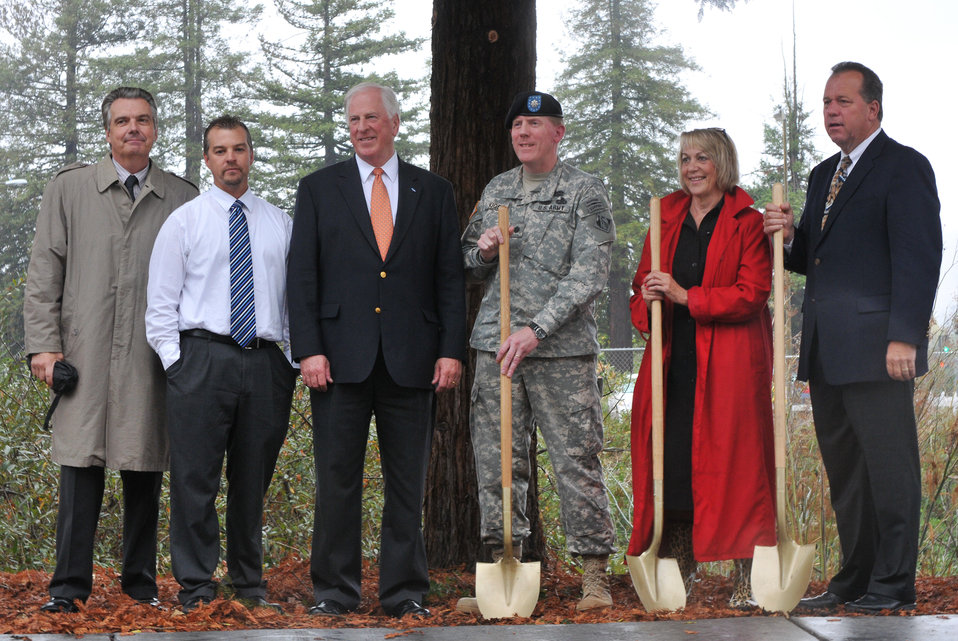 Groundreaking ceremony for the Napa Creek flood risk reduction project