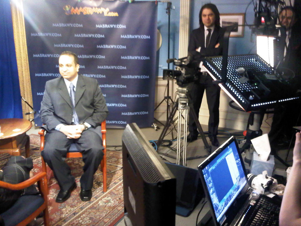 Ahmed Ghanim Conducts an Interview With Secretary Clinton