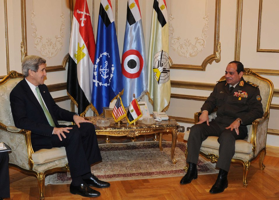 Secretary Kerry Meets With Egyptian Defense Minister al-Sisi