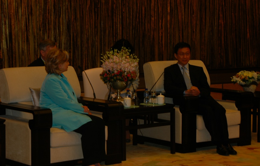 Secretary Clinton Meets With Shanghai Mayor Han Zheng
