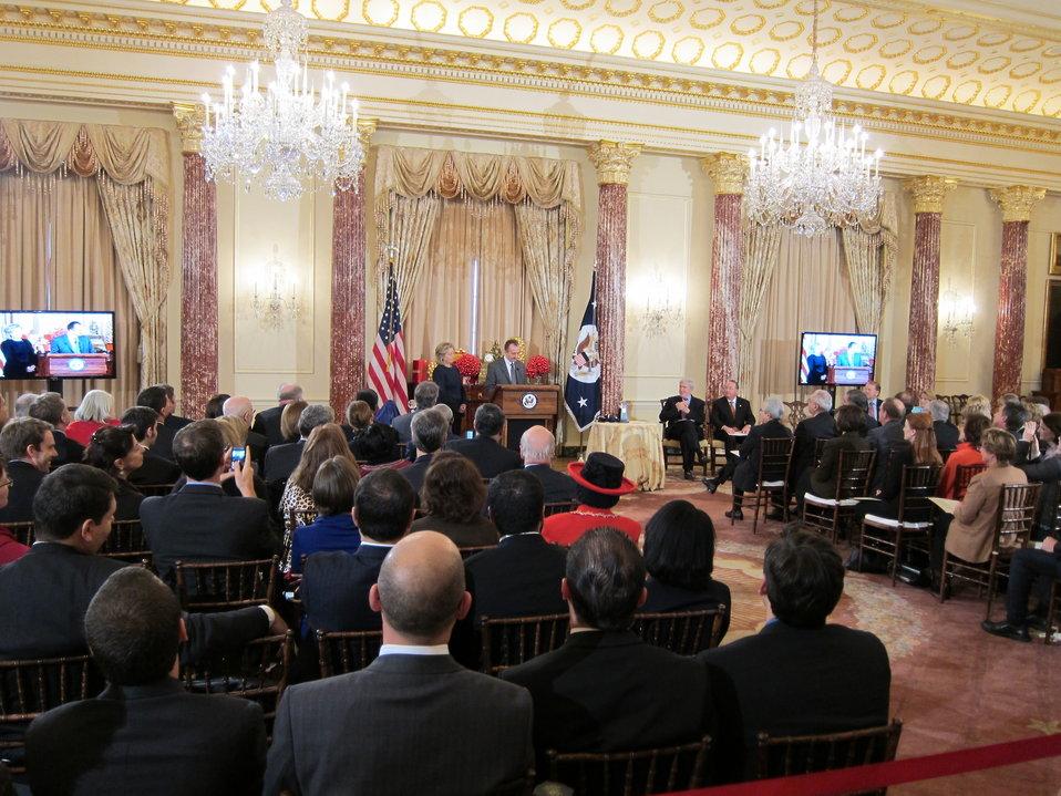Secretary Clinton Welcomes Mars, Inc. President Grant Reid