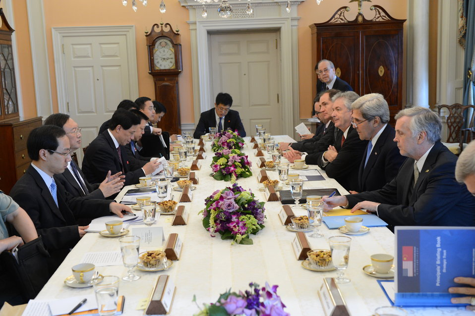 Secretaries Kerry and Lew, Chinese State Councilor Yang, and Chinese Vice Premier Wang Participate in the Strategic Track Small Session