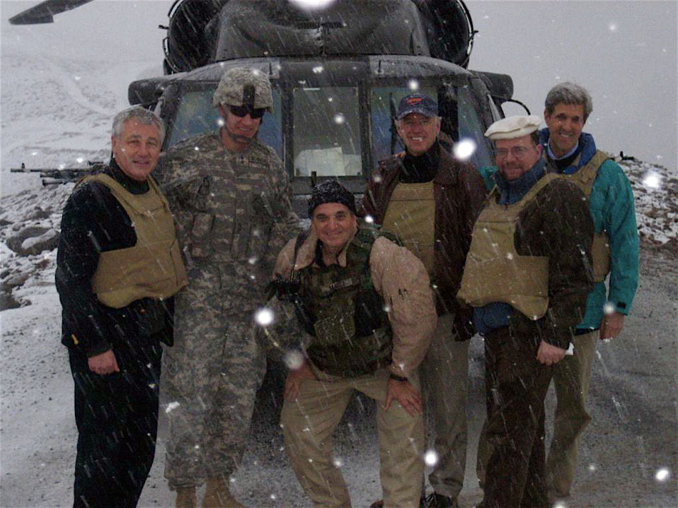 Joe Biden, John Kerry, and Chuck Hagel in Kunar Province