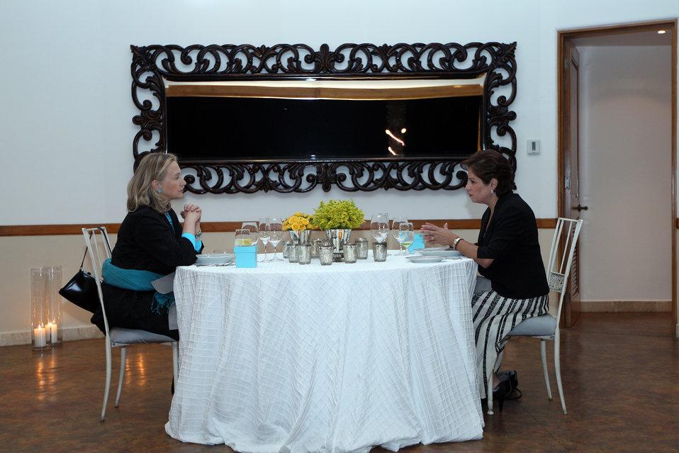 Secretary Clinton Meets With Mexican Foreign Secretary Espinosa