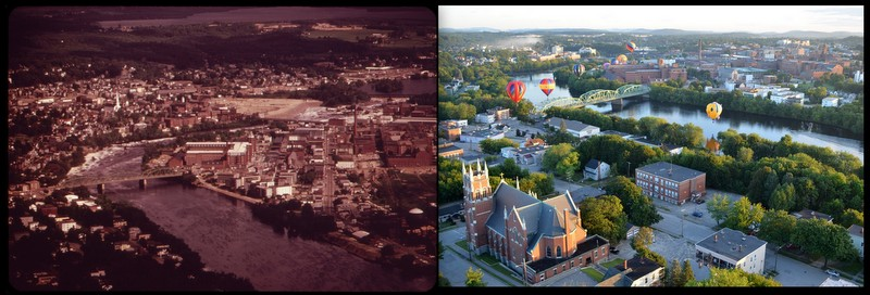 Lewiston-Auburn, ME 1973 and 2012