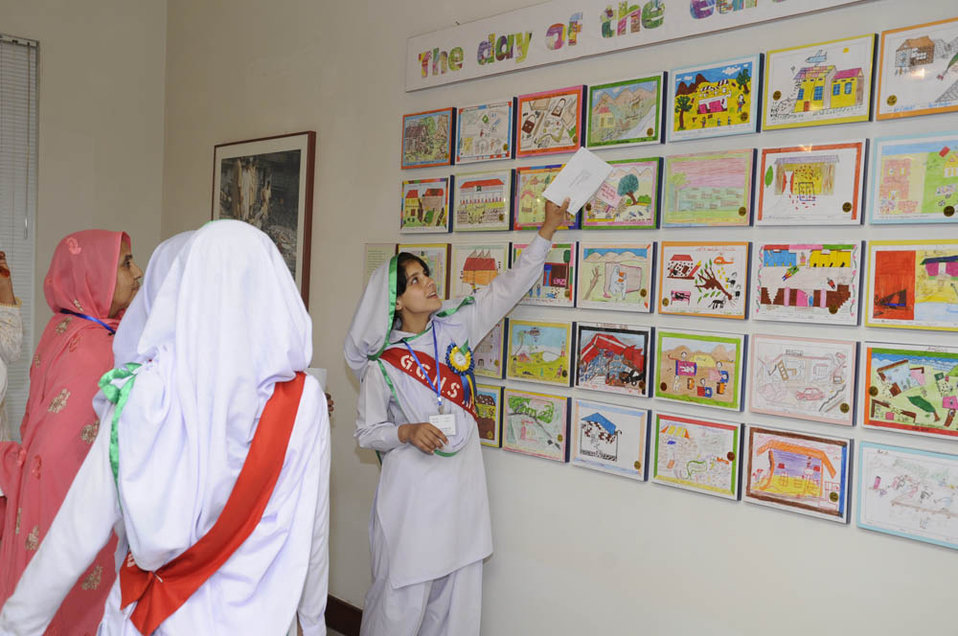 """Photography and Drawing Exhibition on Pakistan 2005 Earthquake """"Rebuilding Together: With Dignity and Hope"""""""