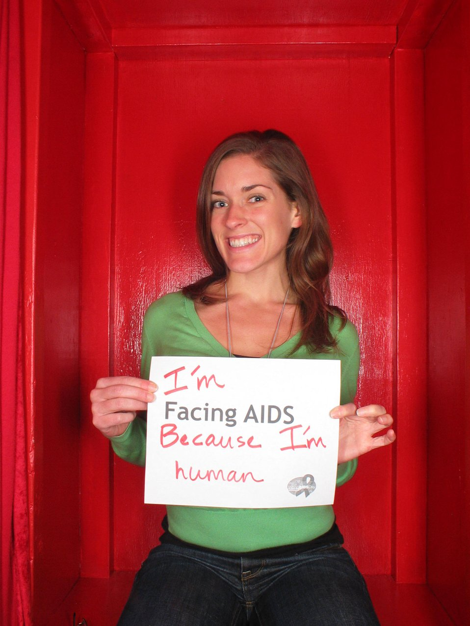I'm Facing AIDS because I'm human.