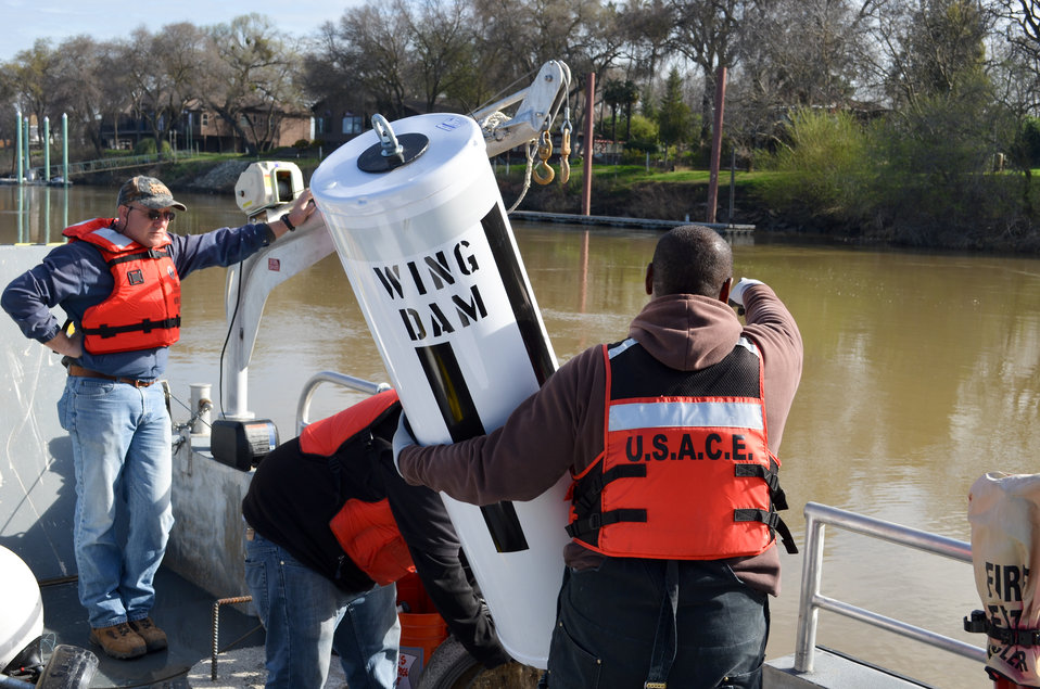 Replacing buoys for safer river navigation