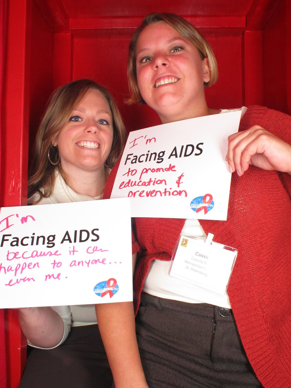 I'm Facing AIDS because it can happen to anyone...even me. I am Facing AIDS to promote education and prevention.