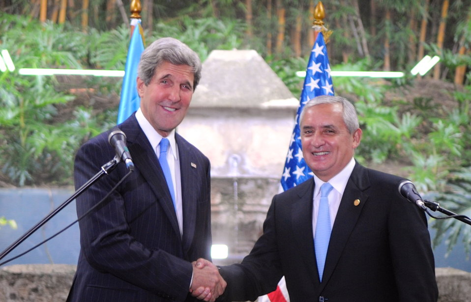 Secretary Kerry Delivers Remarks With Guatemalan President Perez Molina