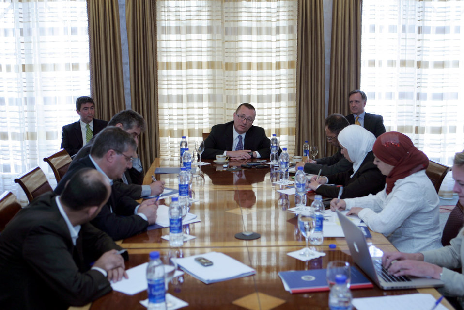 Assistant Secretary Feltman Speaks to Journalists in Jordan