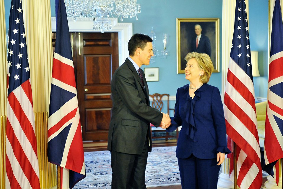 Secretary Clinton Meets With United Kingdom Foreign Minister