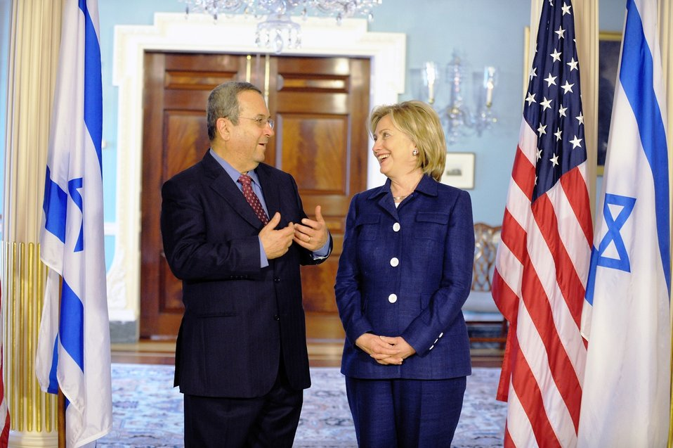 Secretary Clinton Holds Bilateral Meeting With Israeli Defense Minister Barak