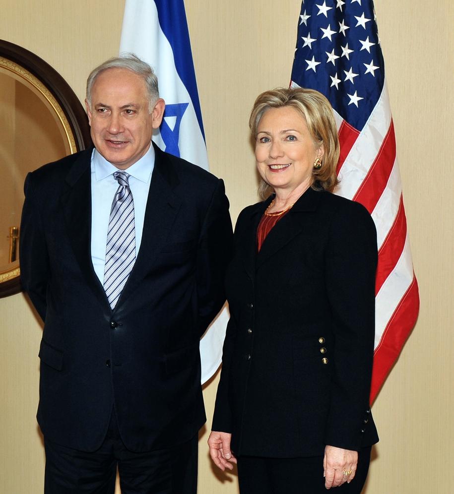 Secretary Clinton With Israeli Prime Minister Netanyahu