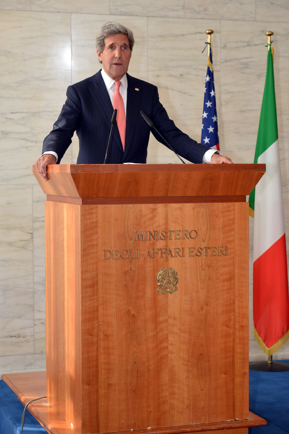 Secretary Kerry Addresses Reporters in Rome