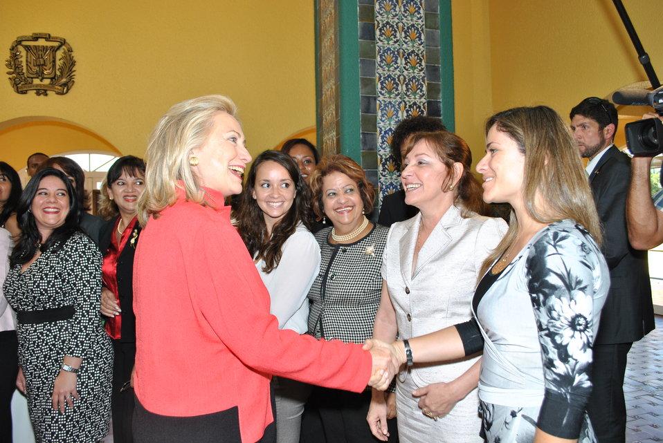 Secretary Clinton Is Greeted By Women's Entrepreneurship Network Participants