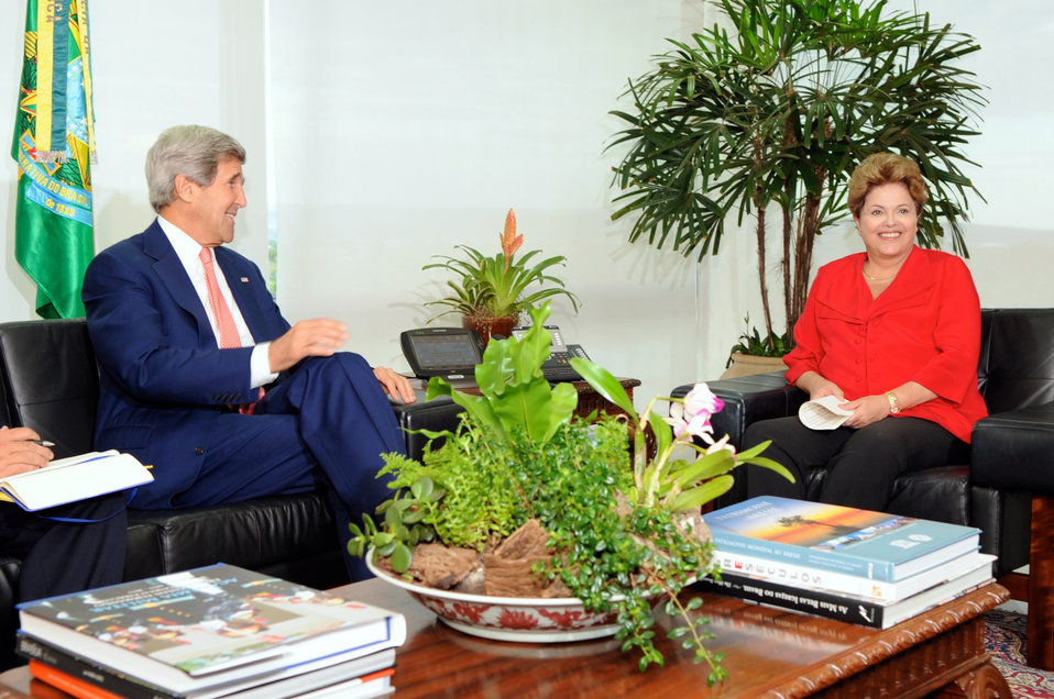 Secretary Kerry Meets With Brazilian President Rousseff