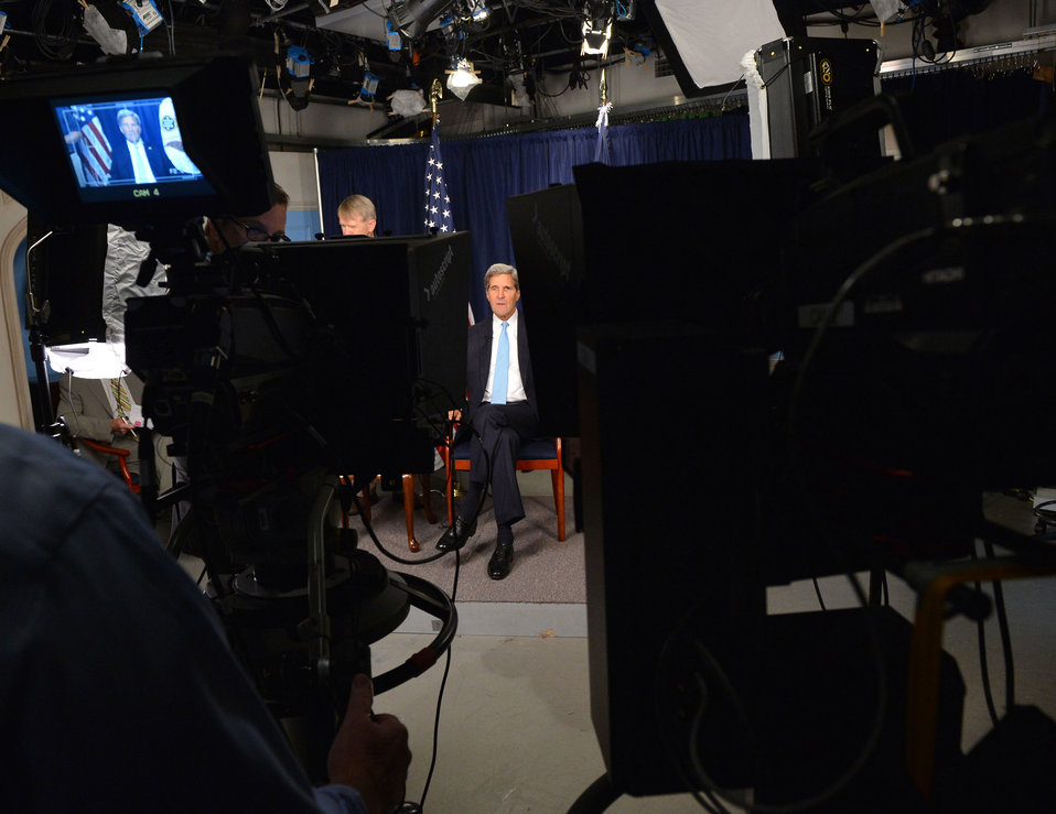Secretary Kerry Prepares for his Google  Hangout on Syria
