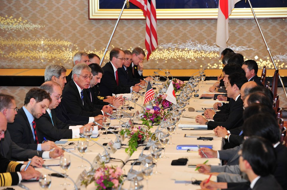 Defense Secretary Hagel Delivers Remarks at the U.S.-Japan Security Consultative (2 2) in Tokyo