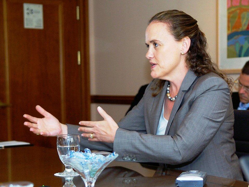 Under Secretary of Defense Michele Flournoy Briefs the Press